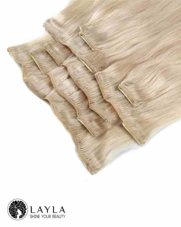Vietnam hair extensions clip in hair natural color blonde color