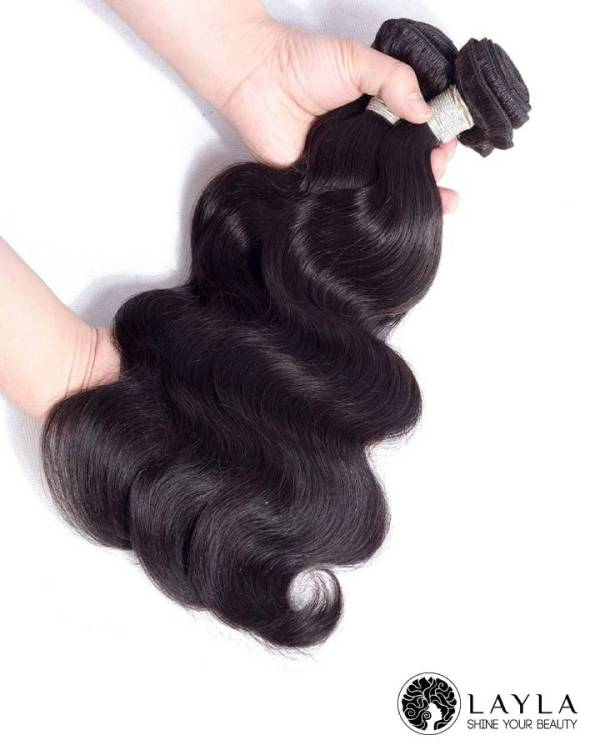 Cambodian wavy hair double drawn weft hair extensions