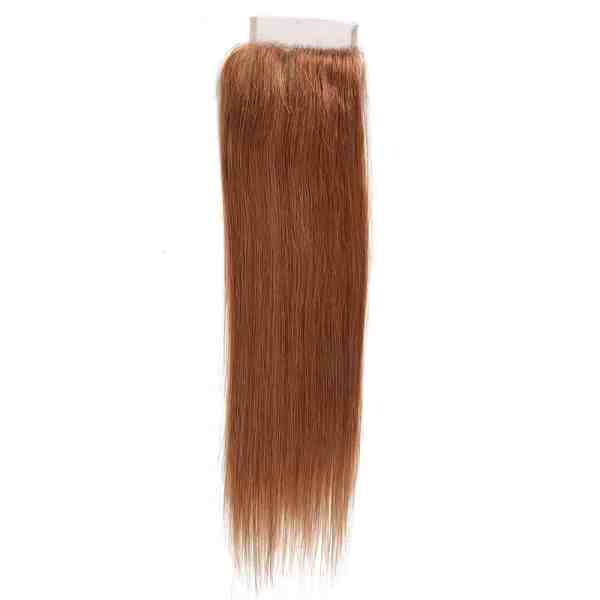 Brown Straight Lace Closure 4x4