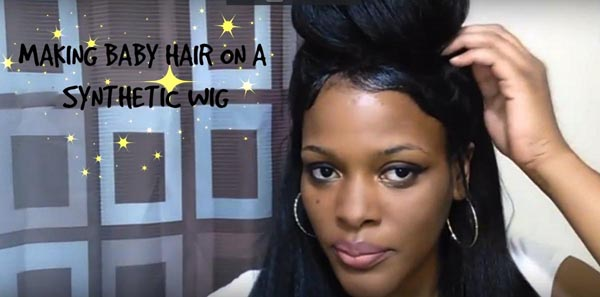 Making-baby-hair-with-front-lace-wig
