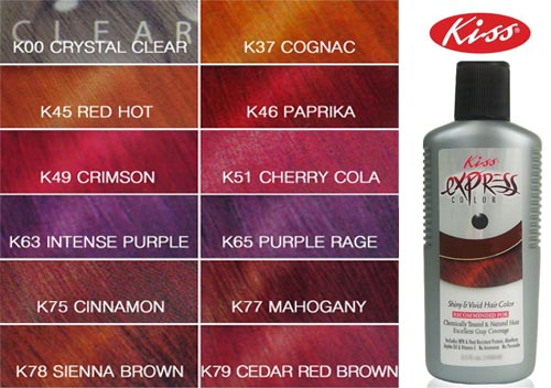Kiss Express Color Black Cherry - Layla Hair