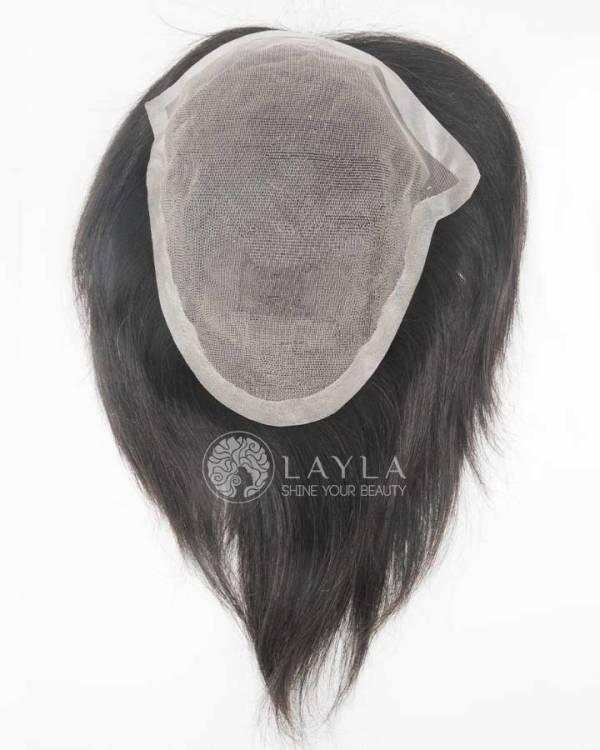8x9 Black Mono Toupee Real Hair