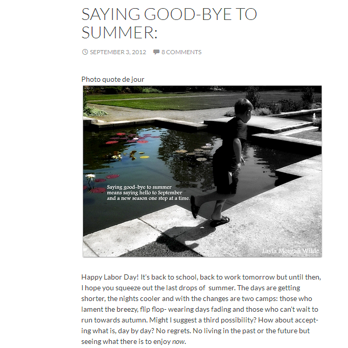 saying good-bye to summer 2012