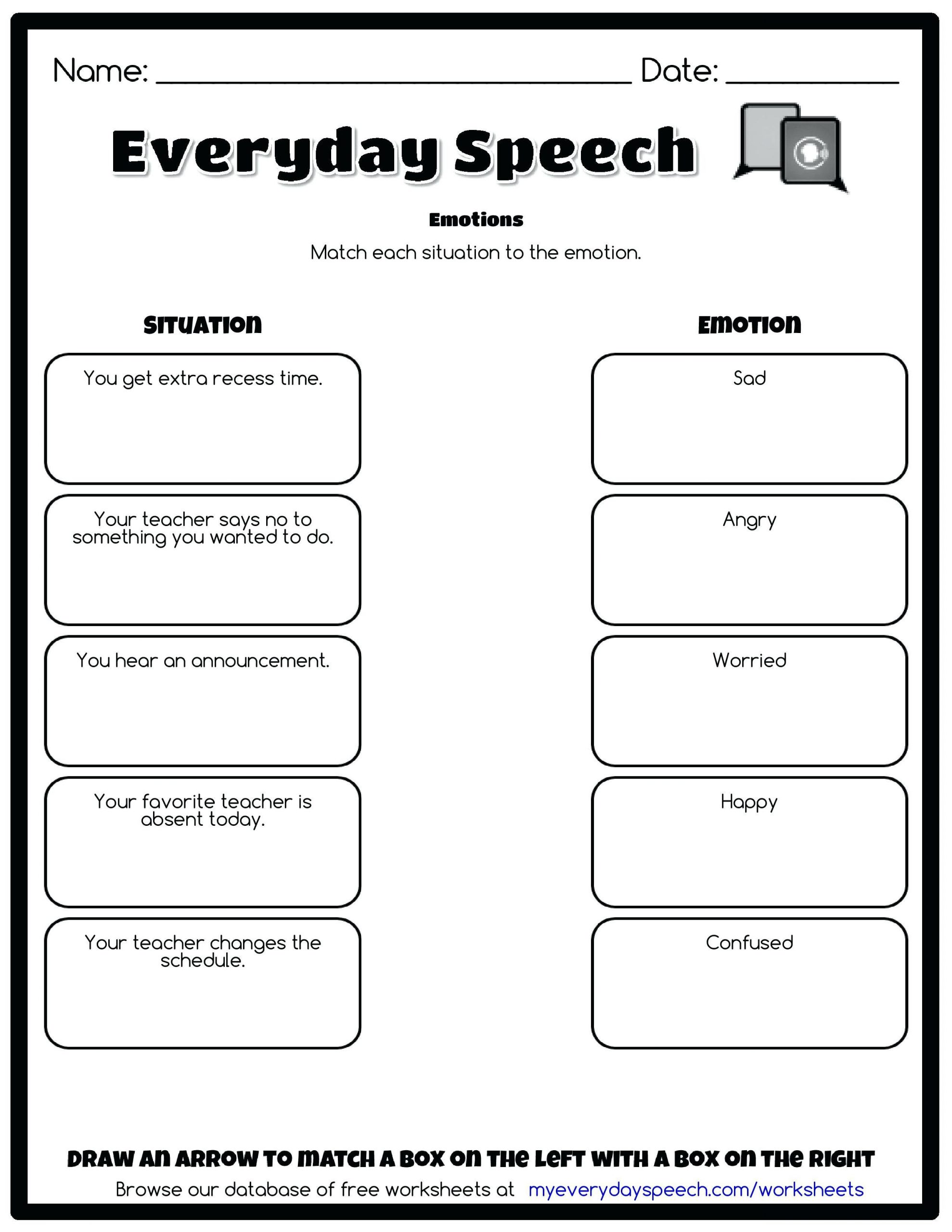 Impulse Control Worksheets For Teens Template Library