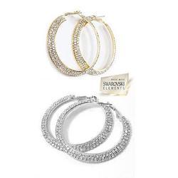 ETERNITY EVER GLOW – Double Shine Hoop Earrings Crystal