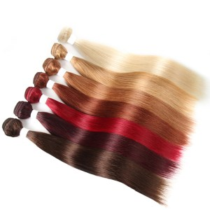 Pre-Colored Straight Remy Human Hair Extension