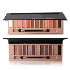 12 Colors Eyeshadow Palette with Brush and Mirror