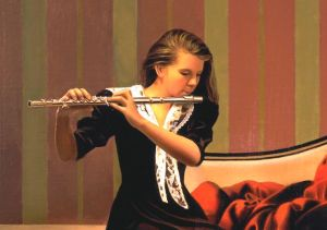 Image of a fine art oil portrait of Amanda by artist Layne Johnson