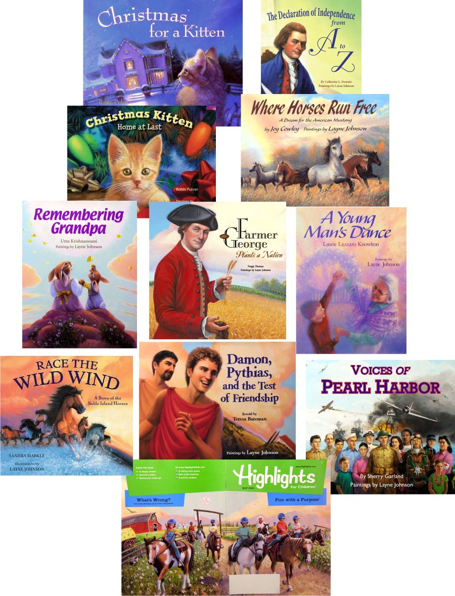 These are just some of Layne Johnson's picture books!
