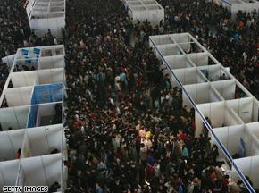 China fears job riots