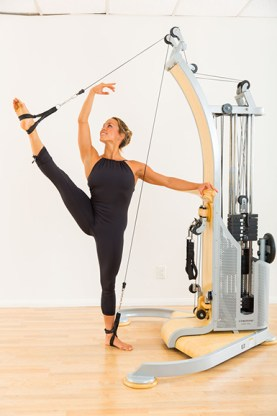 Leg lift, Gyrotonic Expansion System, LA YOGA Magazine, October 2015