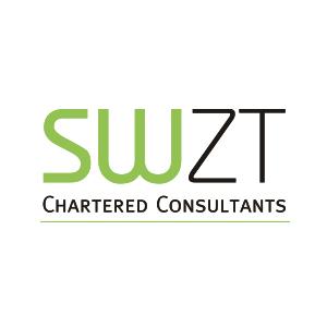 Werbeagentur Layoutriot referenzen: swzt chartered consultants logo