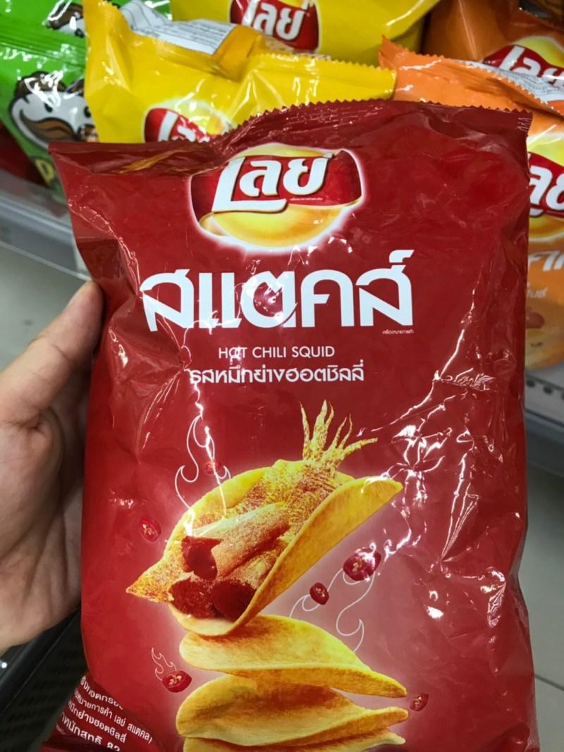 Hot chili squid flavor