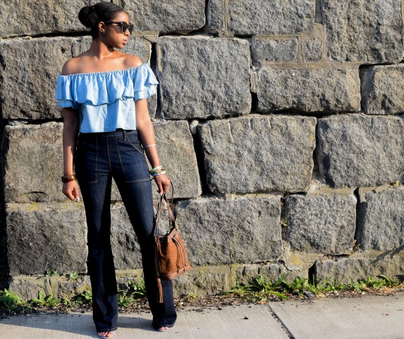 off the shoulder trend, blogger style, zara