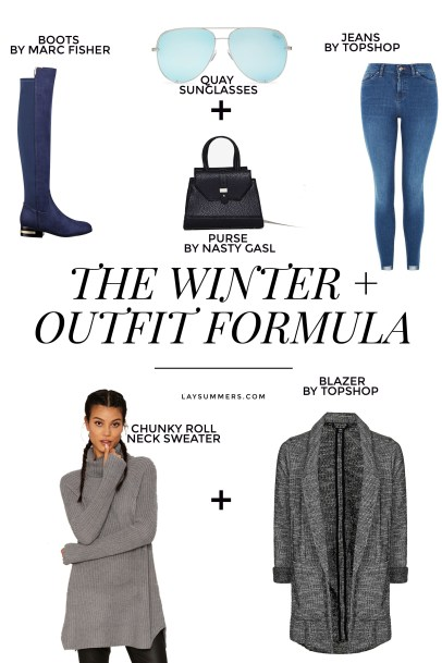 Winter outfit formula