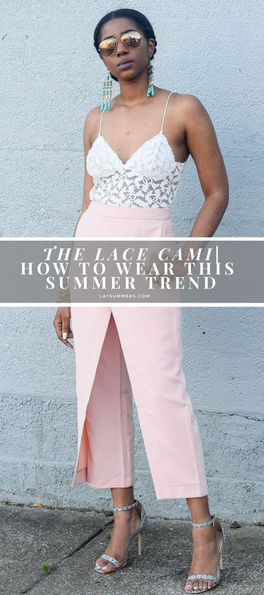 lace cami, summer trends 2017, summer outfits