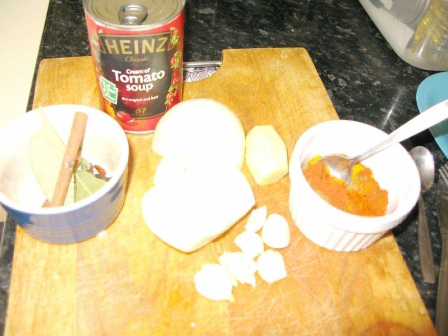 Cream of Tomato Lamb Masala, Lay The Table