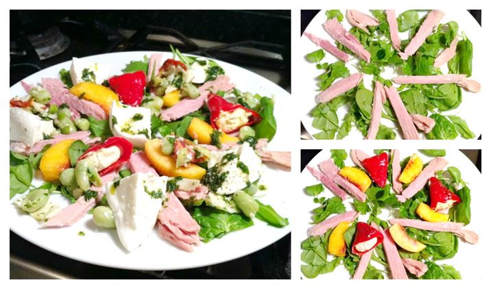 Simple Gammon Salad with Mozzarella and Basil Oil, Lay The Table