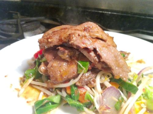 Thai Beef Salad, Lay The Table