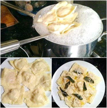 Homemade Ravioli with Two Different Fillings: Butternut Squash & Nutmeg and Ricotta, Lay The Table