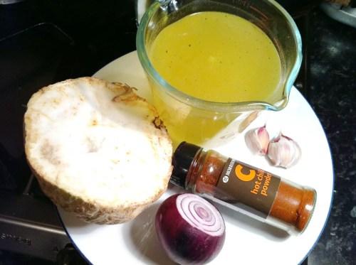 Spiced Celeriac Soup, Lay The Table