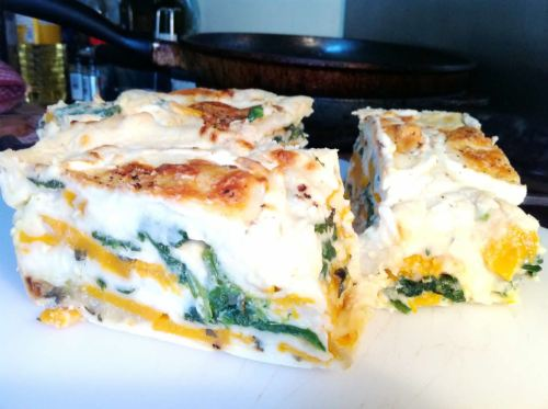 Vegetarians Dream Butternut Squash and Spinach Lasagne, Lay The Table