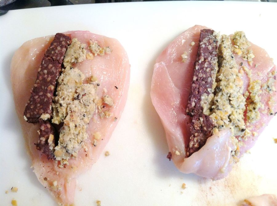 Sous Vide Bacon-wrapped Chicken Breasts stuffed with Haggis & Black Pudding, Lay The Table