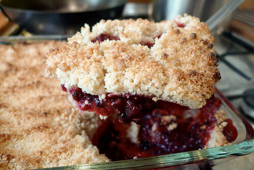 How To Make Apple & Blackberry Crumble, Lay The Table
