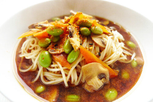 How To Make Asian Vegetable Noodle Soup, Lay The Table
