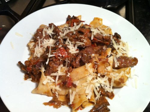 Hare Fillet Pappardelle with Slow Cooked Mushroom Sauce, Lay The Table