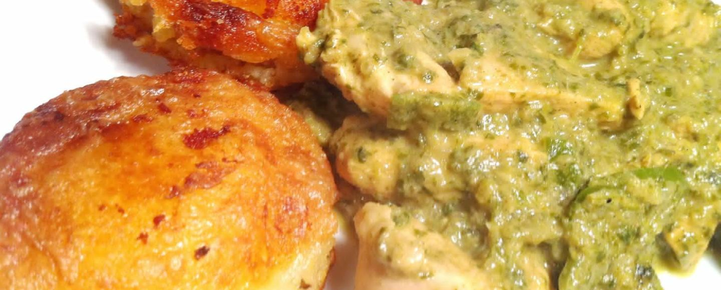 Mint and Coriander Chicken Curry with Keema Potato Patties, Lay The Table