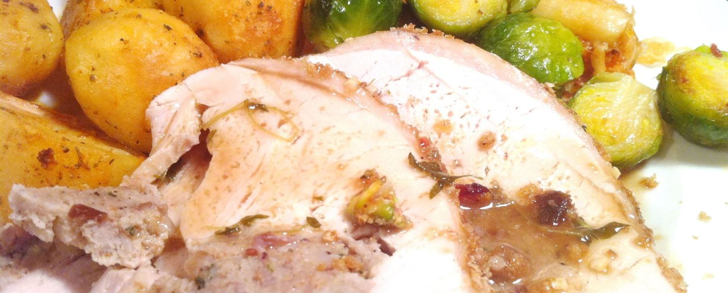 Tom Kerridges Christmas Turkey Roll with Sage & Onion Stuffing (adapted for Turkey Breast), Lay The Table