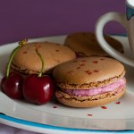 Chocolate Macarons With Cherry Buttercream Filling, Lay The Table