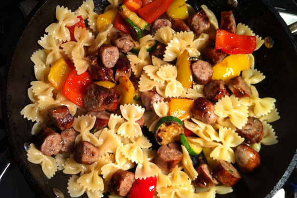 Sausage, Pepper & Courgette Farfalle #BritishSausageWeek, Lay The Table