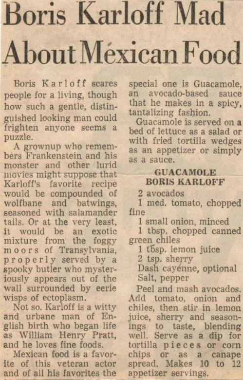 Frankenstein's GuacaMonster | Boris Karloff's Guacamole, Lay The Table