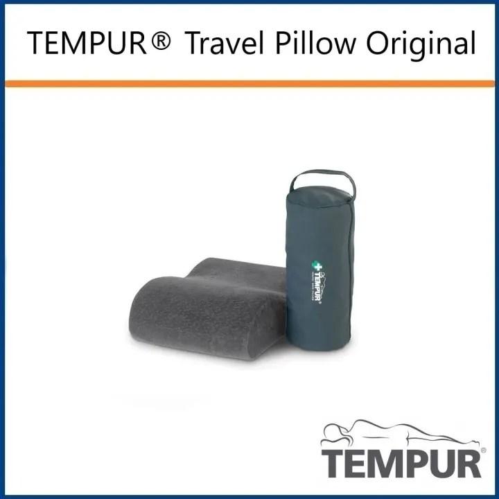 tempur travel pillow original anthracite velour