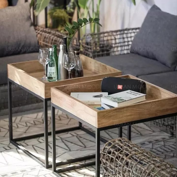 pre order crosby solid wood tray coffee table
