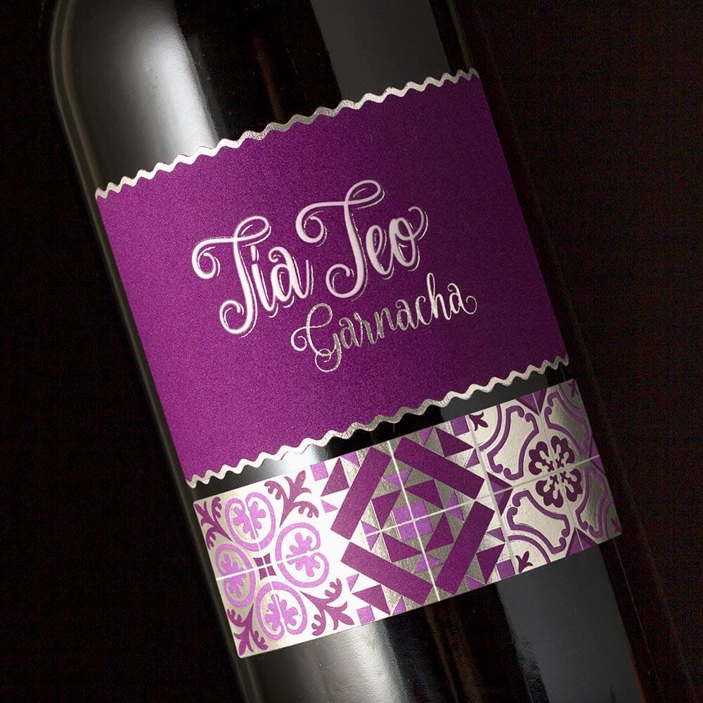 Diseño de etiqueta profesional Tia Teo Garnacha