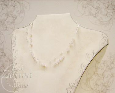 collane a nuvola, collana semplice, collana da sposa, collier sposa, collana cristalli sposa, collana filo nylon, collana cristalli bianchi,