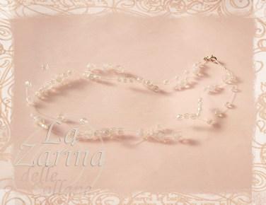 collier bianco, collana cristalli, girocollo sposa, girocollo cristalli bianchi, gioielli sposa, accessori sposa,