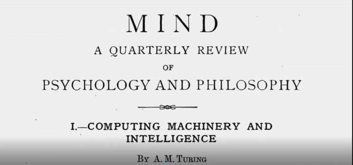 Computing machinery and intelligence