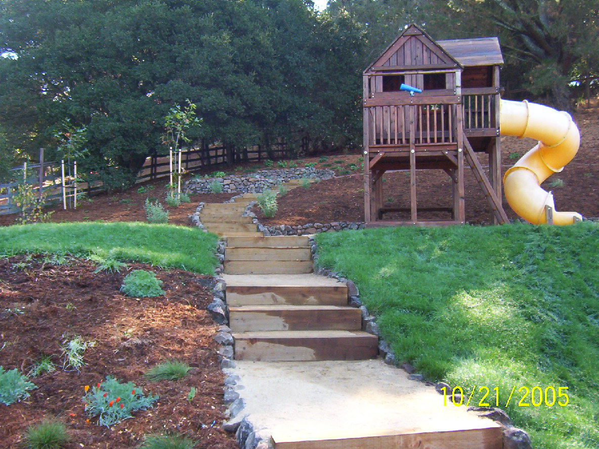 Landscaping Ideas For Backyard With Slope | Mystical ... on Backyard With Slope Ideas  id=56152