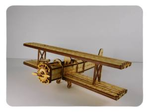 Wood Model Bi-Plane Kit By-LazerModels