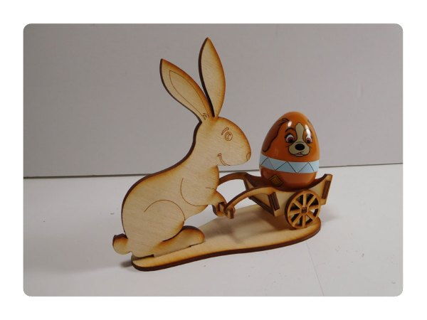 Bunny with Cart LazerModels