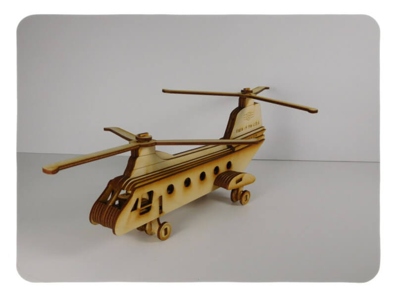 Wood Model Chinook Kit By-LazerModels