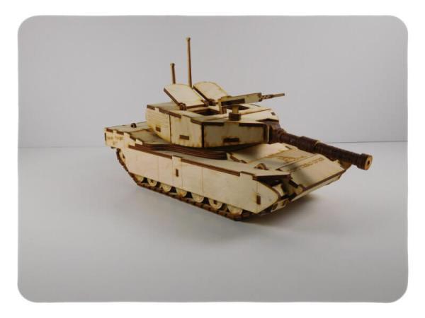 Wood Model M1 Abrams Tank Kit By-LazerModels