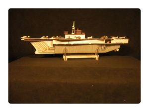 Wood Model Midway Aircraft Carrier Kit By-LazerModels