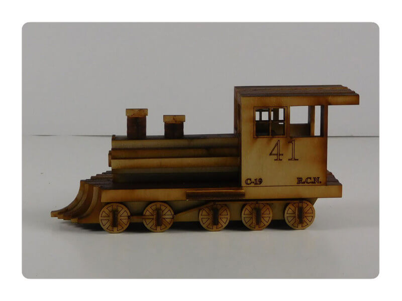 Wood Model Mini Train Puzzle Kit By-LazerModels
