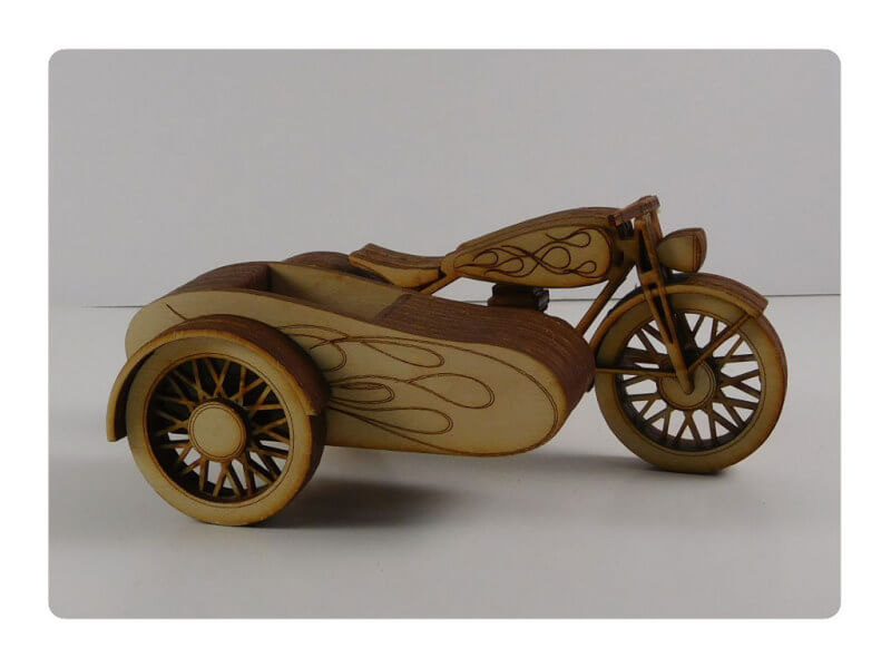 Wood Model Motor Cycle Kit Deal By-LazerModels