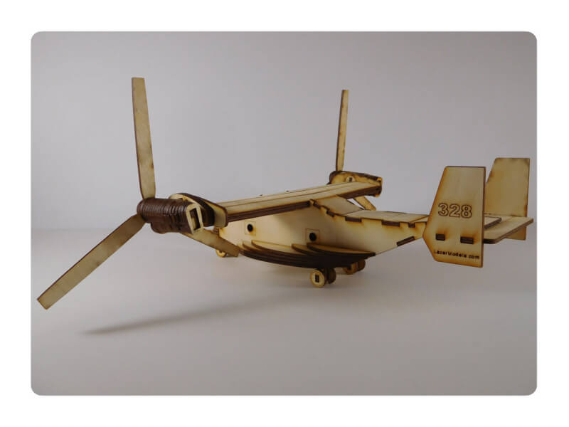 Wood Model V22 Osprey Kit By-LazerModels